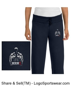 Ladies Fleece Pant Design Zoom