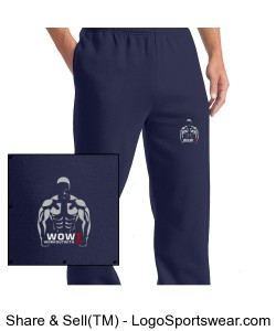 Sport-Tek® Adult Open Bottom Sweatpant Design Zoom